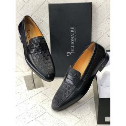 BILLIONAIRE DESIGNER MEN SHOE|BLACK|108(AVAILABLE IN ALL SIZES)