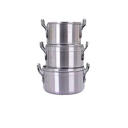 Hoffner Cooking Pots - 3Pcs 20cm 22cm 24cm