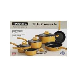 Tramontina Fabulous 10 Pc Non-Stick Heavy-Guage Aluminum Cookware Set