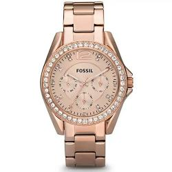 FOSSIL ES2811 WOMEN'S RILEY ROSE GOLD-TONE STAINLESS STEEL WATCH