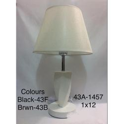 CLASSY TABLE LAMPS|43A 1457 1x12 (BLACK,BROWN)