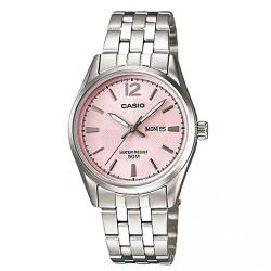 CASIO LTP-1335D-5AVDF WOMEN'S STAINLESS STEEL PINK DIAL SMALL WATCH