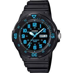 Casio MRW200H-2BV Unisex Black/Blue Face And Black Resin Band Medium Size Watch