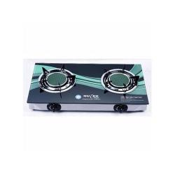 Nulek Quality THICK GLASS DOUBLE BURNER GAS COOKER