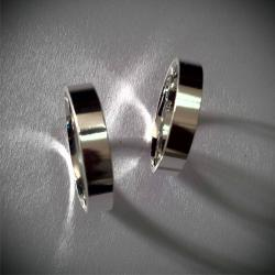 Plain sterling silver couple matching band