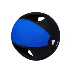 PIVOT FITNESS PM160-4KG MEDICINE BALL + HANDLE [4KG]