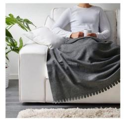 Ikea Polarvide Grey Throw/blanket, 130×170 Cm