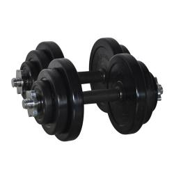 PIVOT FITNESS WK15R 15KG RUBBER DUMBBELL KIT